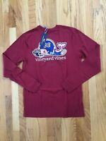 NWT Men's Vineyard Vines LS Football Whale Tailgate T-Shirt S Or L $48.00