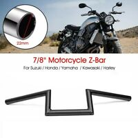 Guidon Moto pour Suzuki Honda CG Harley Touring Universel 7/8 Inch Noir
