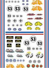 1-18 Scale Model Car Herbie Beetle Style Exterior Vinyl Decals A4 Sheet