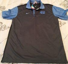 UNC North Carolina Tar Heels Gray Blue M Medium Polo Shirt New NWT Nike Dri-Fit