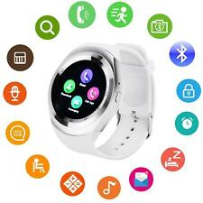 Bluetooth Smart Watch Round Screen Fitness Unlocked 2G GSM Man Woman Girl Kids-W