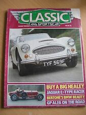 Classic and Sportscar Magazine May 1984 Heleay 3000 Jaguar Stag BMW 3200CS