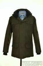 CANADA GOOSE Green Herringbone GOOSE DOWN FEATHER Jacket Coat Parka - SMALL