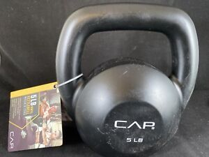 Vinyl Coated 5 LB CAP Kettlebell Weight Home Gym Fitness Training