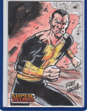 Black Adam 2015 Cryptozoic DC Comics Super Villains 1/1 Sketch Card Edde Wagner