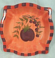 Debby Segura Designs Antipasto Red Purple Plum Green Square Salad Plate
