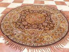 77BIG Old Vintage  Carpet  Rug High Quality Country Colors   Oval