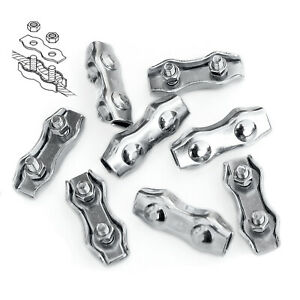 10 X ROPE CONNECTORS-5.5mm Poly Rope Electric Fencing Joiner Joins Nuts Connects