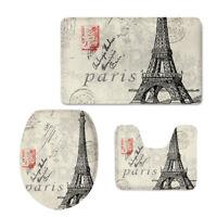 Paris Vintage Toilet Seat Lid Cover Fashion Anti-slip Shower Floor Carpet Bath