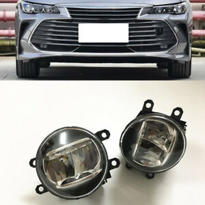 2x For Toyota Avalon 2018-21 Car Front Left Right Fog Light Lamp Led Bulb Cover