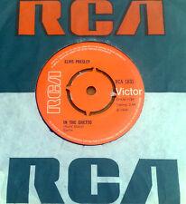 "ELVIS PRESLEY "" IN THE GHETTO "" SUPERB RARE ORIG UK 7"""