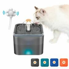Cat Drinking Water Fountain Pet Dog Electric Automatic Bowl with Filter 2L LED