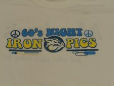 LEHIGH VALLEY IRONPIGS 60'S NIGHT SHIRT MENS XL WHITE PHILLIES