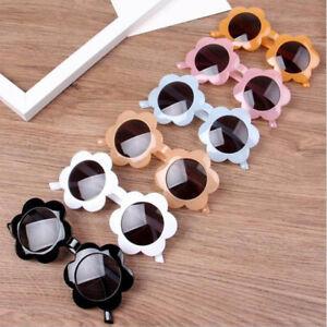 Kids Boys Girls Sunglasses Round Flower Baby Children UV400 Sport Sunglasses ac