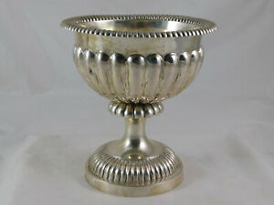 Antique 12 Loth Silver Footed Bowl East European Keller Mark 19th Century