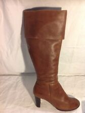 New Look Brown Knee High Leather Boots Size 5