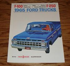 1965 Ford Truck F-100 F-250 Pickup Chassis-Cab Sales Brochure 65