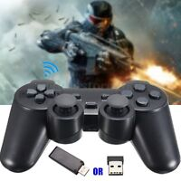 USB Wireless Vibration Joystick Game Pad Controller for Tablet PC Laptop Black