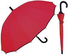 "46"" Arc 16-Panel w/Black Trim, Black Hook Umbrella -RainStoppers Rain/Sun UV"