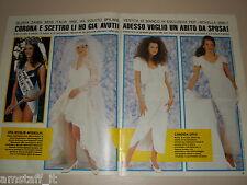 GLORIA ZANIN MISS ITALIA clipping articolo fotografia foto photo 1992 AS35
