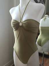 TOMAS MAIER Light Green One-Peice Halter Strapless Swimsuit SizeUS 4 Ret $460