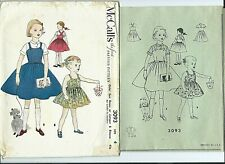 M 3093 sewing pattern 50's SUN DRESS JUMPER & BLOUSE sew size 4 vintage original