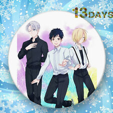 Fashion Japanese Anime Cartoon YURI!!! on ICE Badge Brooch Chest Pin Gifts 58mm