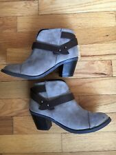 Women's SODA Ankle Boots Booties Faux Leather Beige Brown Strappy Size 6 Youth 4