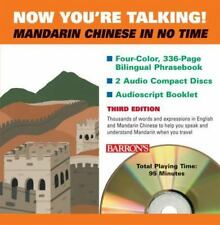 BARRON'S, NOW YOU`RE TALKING! MANDARIN CHINESE IN NO TIME, CD & 2 BOOKS 3rd ED.
