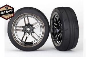 Traxxas 8373 Split-Spoke Black Chrome Wheels, 1.9' Response Tires (Front) (2)