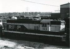 JJ627 RP 1977 RICHMOND FREDERICKSBURG & POTOMAC RAILROAD ENGINE 103 RICHMOND VA