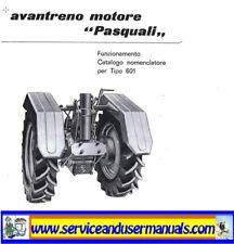 PASQUALI - Tractor - 601 - Avantreno Motore - Istruzioni - Pages 12