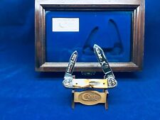 1996 Case Mark McGwire Canoe Knife  Stag Handles Mint In Case - SN# 40 of 70