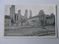 Flower Gardens Arbroath Abbey Vintage Scottish Postcard