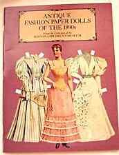 Antique Fashion Paper Dolls of the 1890s, Boston Children's Museum Uncut