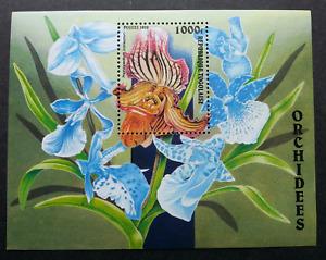 [SJ] Togo Orchids 1999 Flower Flora Plant (miniature sheet) MNH