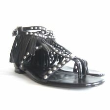 Flat (0 to 1/2 in) Block Leather Sandals for Women