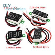 0.28inch DC Digital Voltmeter Panel Mount LED Voltage Meter 100V/2.5-30V US