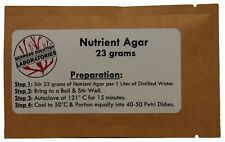 Nutrient Agar 23grams Dehydrated Yields 1 Liter 40 50 100mm Plates