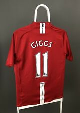 MANCHESTER UNITED 2007 2008 2009 HOME FOOTBALL SHIRT JERSEY NIKE GIGGS #11 RARE