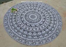 "Vintage Cotton Indian 46"" Round Mandala Tapestry Yoga Mat Beach Throw Bohemian"