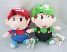 2pcs Super Mario Bros. Baby Mario & Luigi Plush Doll Soft Toy 6 inch Xmas Gift