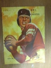 Football Program Rare 1939 RPI vs. Rochester College NCAA Advert Lon Keller Art