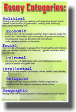 Essay Categories - Language Arts Writing English Classroom Educational POSTER