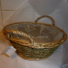 Seagrass Baskets x 2 lined with side ear handles floristry fruit bread basket