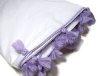 Pottery Barn Teen Multi Colors Lavender Purple Tassel Twin Duvet Cover New