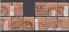 Australia KGV 2d orange stock-card group with annotations