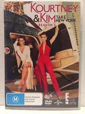KOURTNEY & KIM TAKE NEW YORK ~ SEASON TWO 2 ~ 3 x AS NEW DVD's ~ PAL 2 & 4