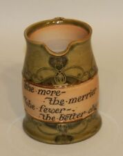 Royal Doulton England 2714 Tankard Jug Mug The More Merrier Fewer Better Cheer