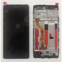 VETRO DISPLAY LCD TOUCH SCREEN SCHERMO + FRAME PER HUAWEI P9 NERO EVA-L09